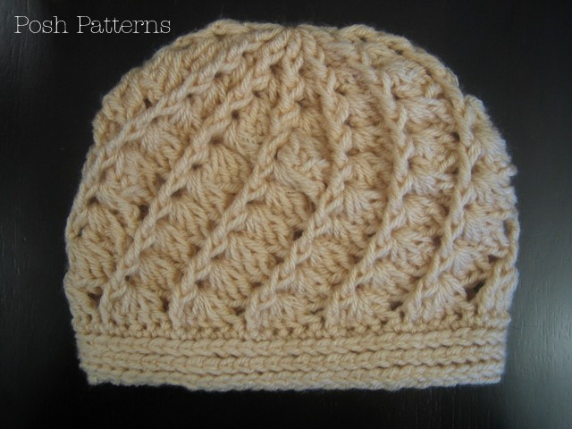 Crochet Shell Beanie Hat Pattern : Crochet Hat Pattern - Spiral Shell Beanie