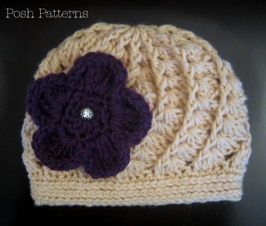 Crochet Hat Pattern Spiral : Crochet Hat Pattern - Spiral Shell Beanie