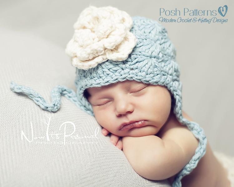 Crochet Baby Hat Shell Pattern : Crochet Earflap Hat Pattern - Crochet Hat Pattern