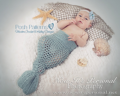 Crochet Pattern Baby Mermaid - Mermaid Blanket Pattern