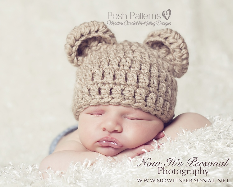 Crochet Baby Teddy Bear Hat Pattern : Bear Hat Crochet Pattern Teddy Bear Hat
