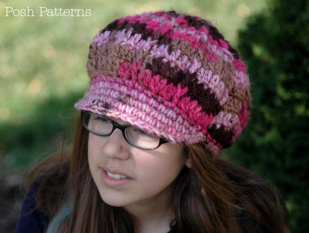 Free Crochet Pattern Slouchy Hat With Brim : Slouchy Newsboy Hat Crochet Pattern Fashion Hat