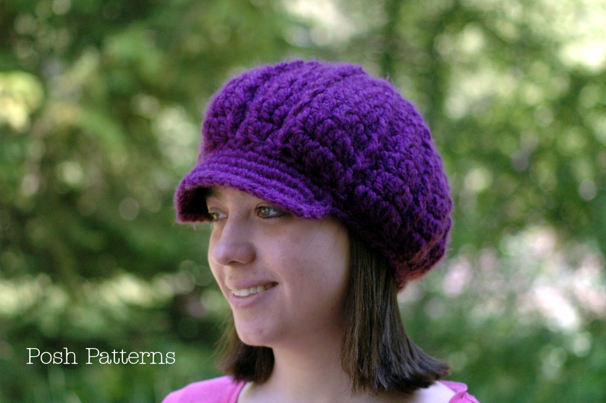 Free Crochet Pattern Newsboy Style Cap : Slouchy Newsboy Hat Crochet Pattern Fashion Hat