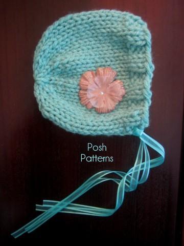 Easy Pixie Hat Knitting Pattern : Bonnet Knitting Pattern Knit Pixie Hat Pattern
