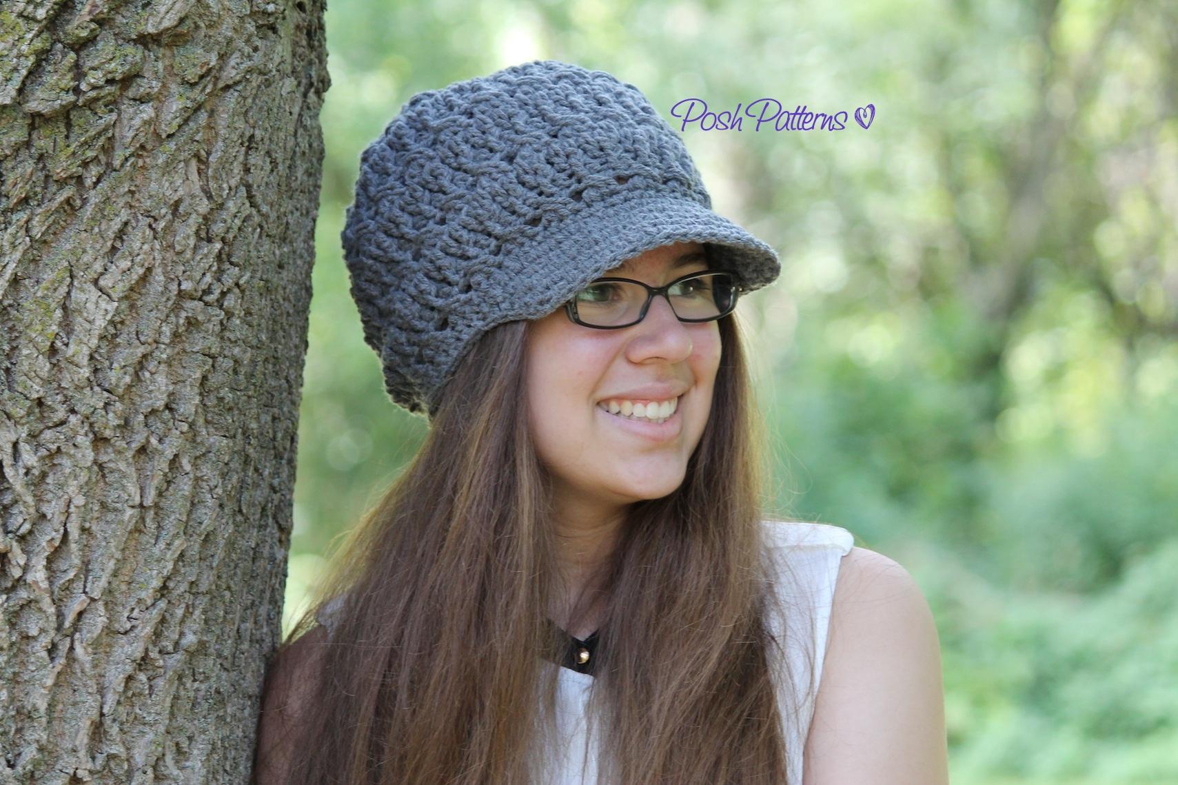 Crochet Hat Patterns Adults : Slouchy Hat Crochet Pattern Crochet Newsboy Hat