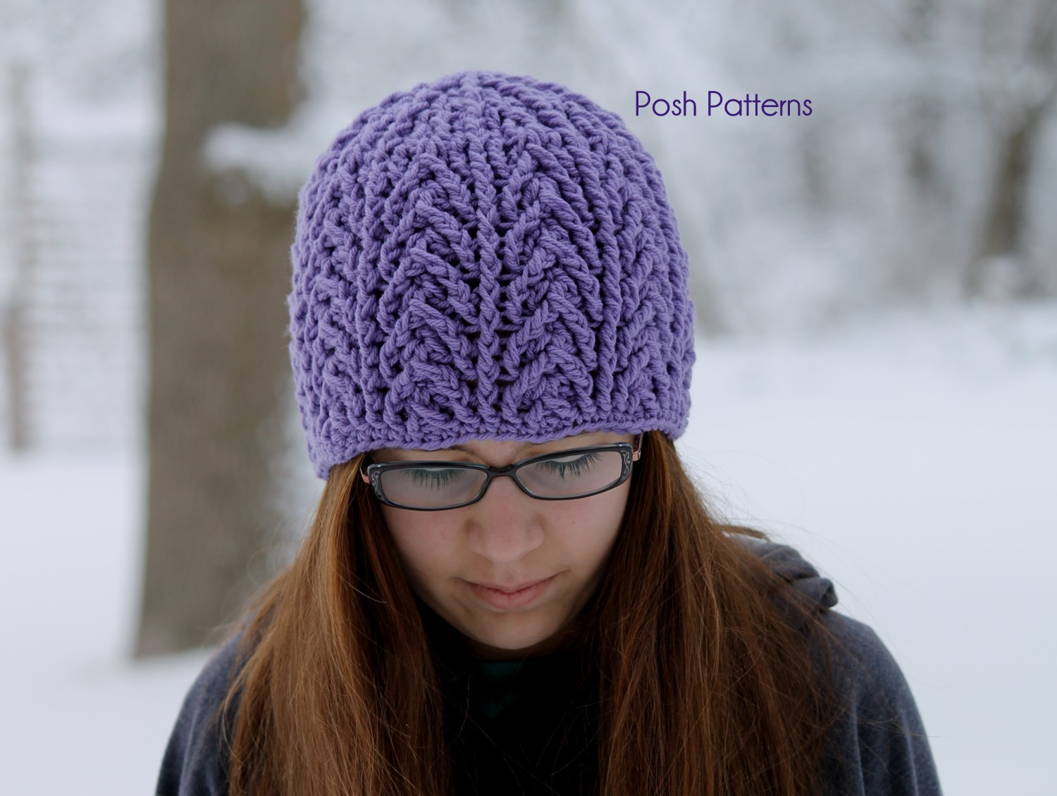 Crochet Pattern Hat Beanie : Cable Hat Crochet Pattern - Crochet Cable Beanie