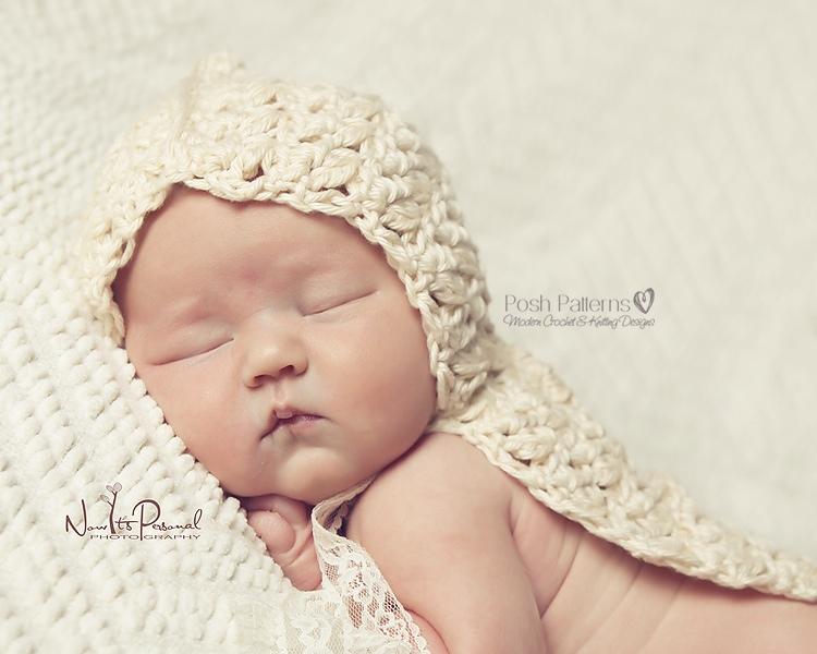 Crochet Pattern Hooded Baby Cape - Poncho Pattern