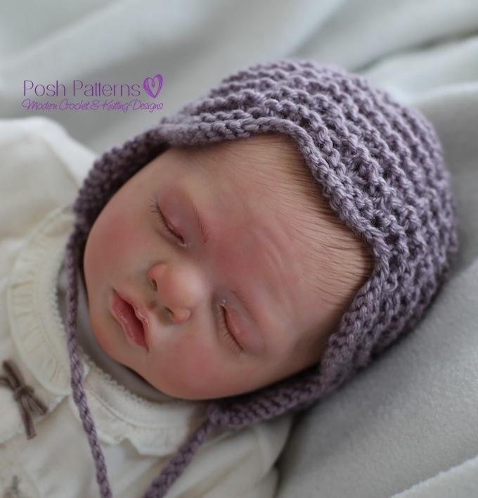 Knitted Dog Jumper Pattern : Knitting Pattern Lace Bonnet Pixie Hat Pattern