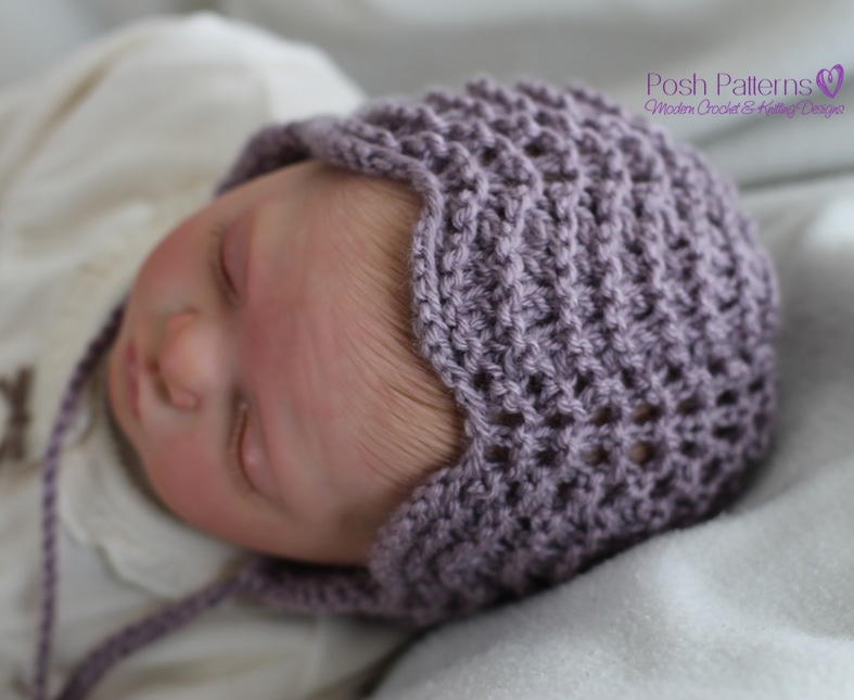 Knitting Pattern Lace Bonnet Pixie Hat Pattern