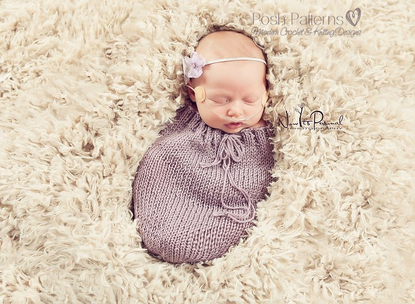 Free Crochet Patterns Baby Skirt : Newborn Swaddle Sack Knitting Pattern