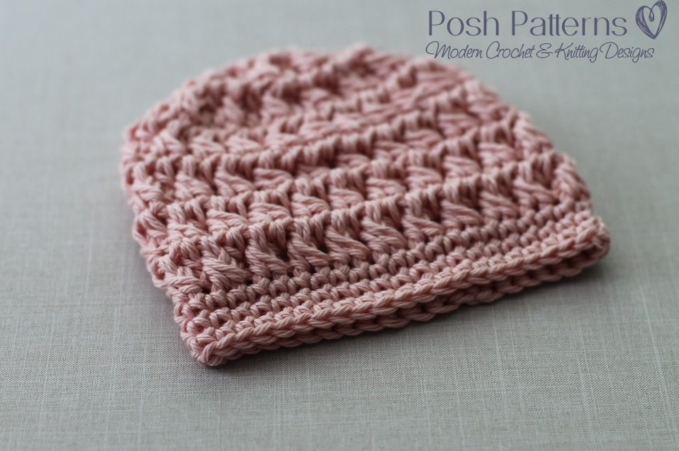 Free Crochet Pattern For Cluster Beanie : Crochet Hat Pattern Cable Cluster Beanie