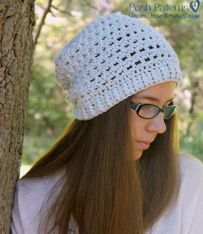 Crochet Slouchy Hat Pattern For Child : Crochet Slouchy Hat Pattern - Slouchy Hat Pattern