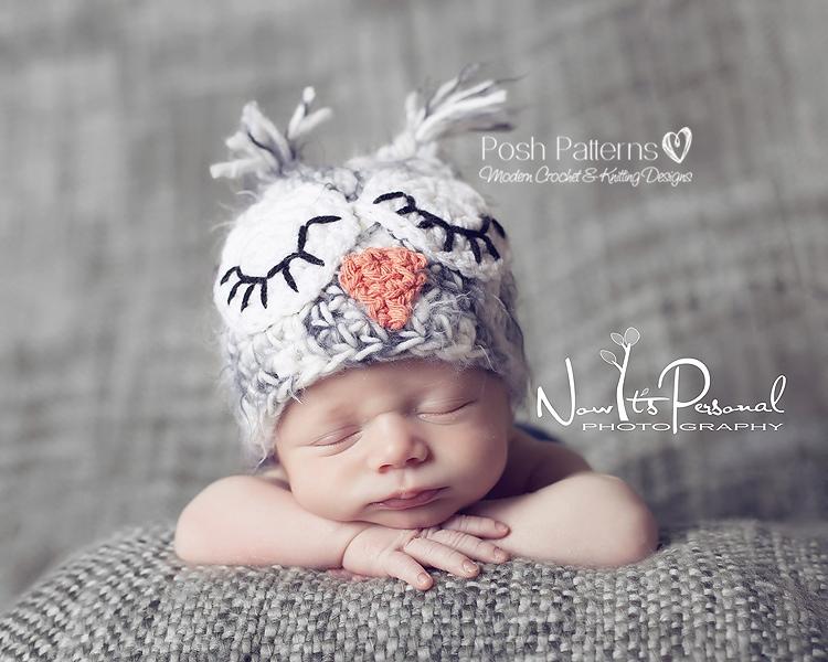 Owl Baby Hat Knitting Pattern : Crochet Owl Hat Pattern - Baby Owl Hat