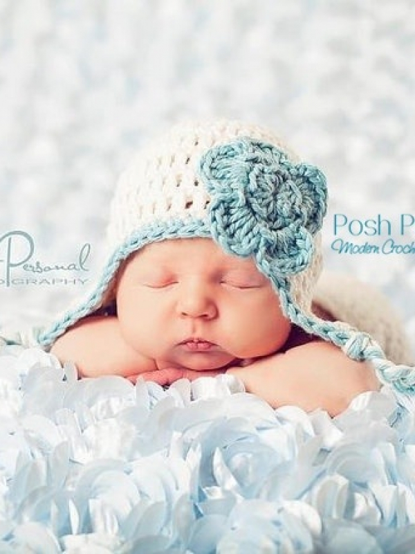 easy crochet pattern baby earflap hat