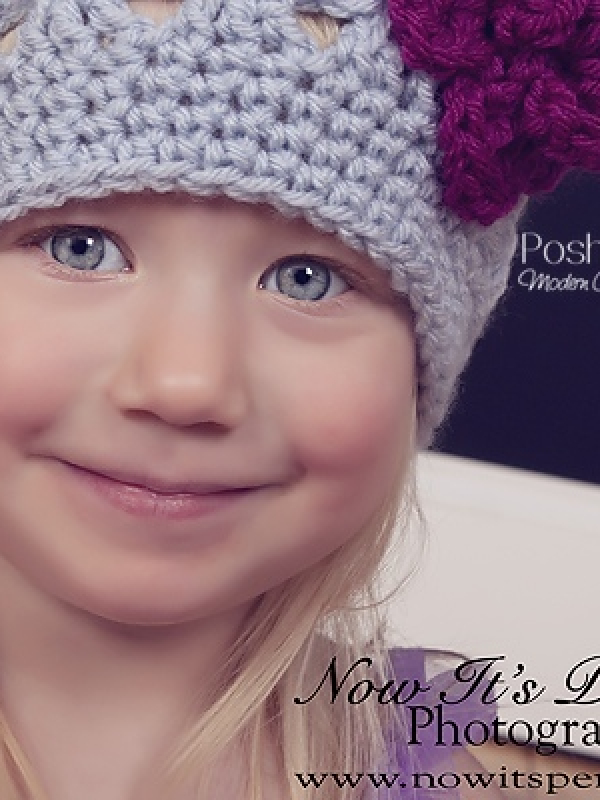 crochet pattern beanie and flower