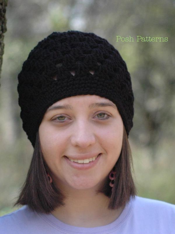 crochet hat pattern shell stitch beanie