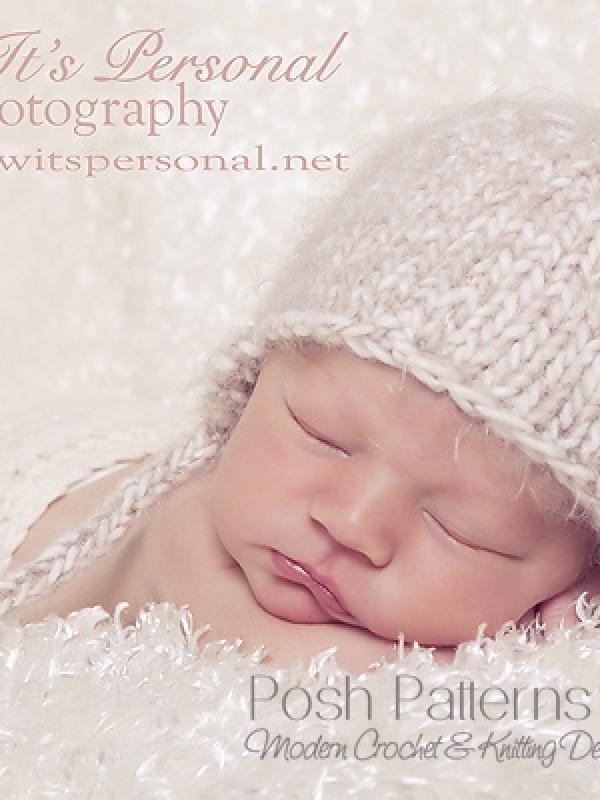 knitting pattern baby earflap hat