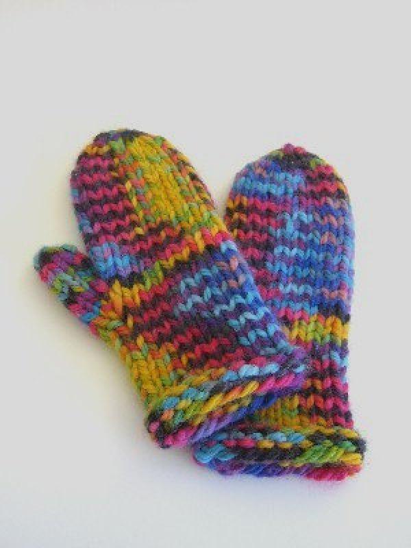 easy knitting pattern knit mittens