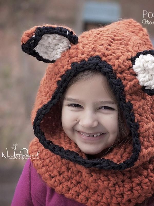 crochet pattern fox hood