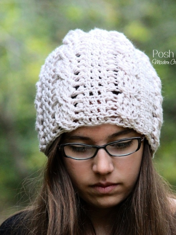 easy crochet cable hat pattern