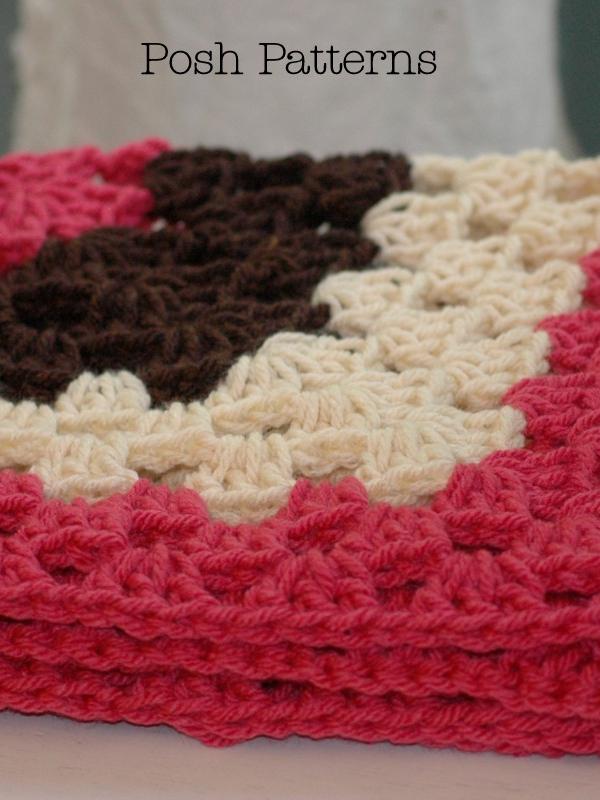 granny square crochet baby blanket pattern