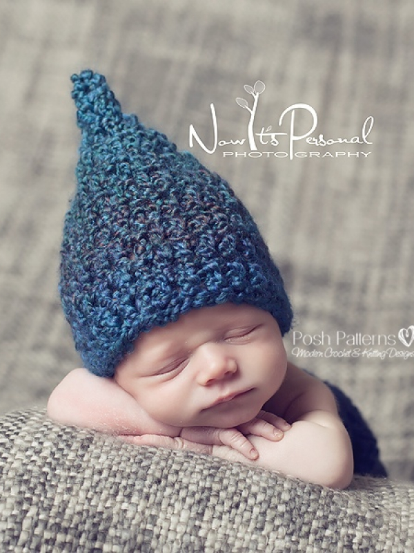 Crochet Hat Pattern Baby Gnome Pixie Hat