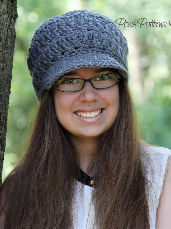 trendy crochet hat pattern