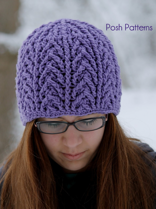 easy cable hat pattern