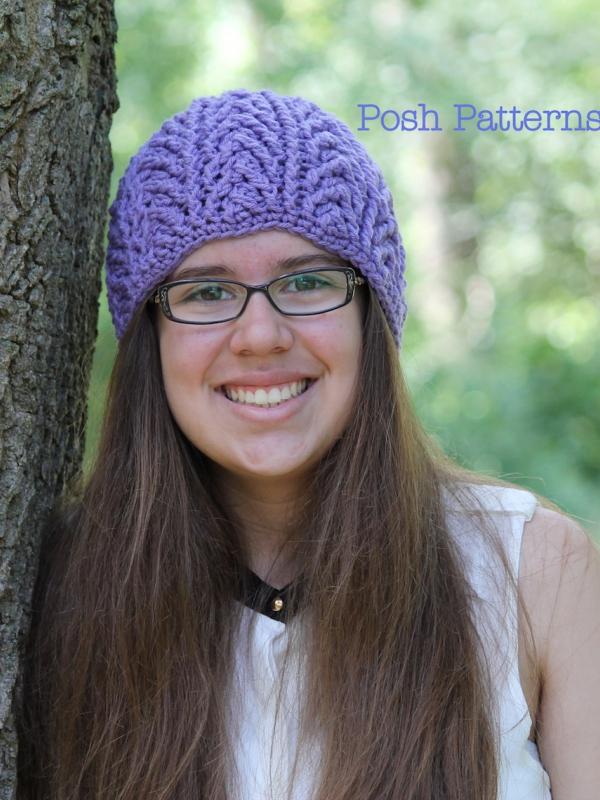 crochet pattern cable hat