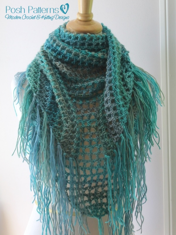 Crochet Triangle Shawl Patterns For Beginners : Crochet Triangle Scarf Pattern Crochet Shawl Pattern