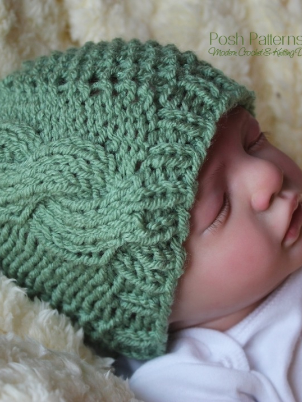 baby cable hat pattern