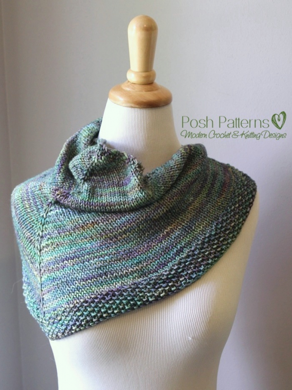 knit triangle shawl pattern