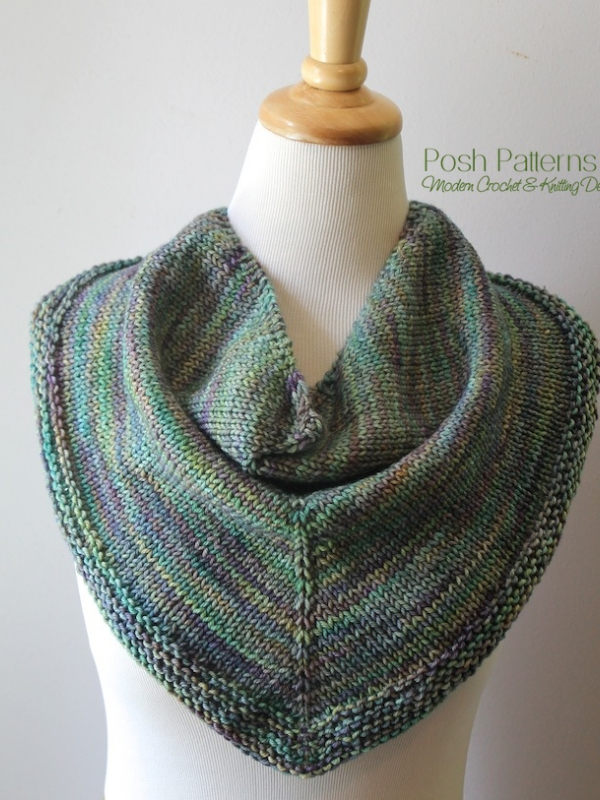 knit triangle scarf pattern