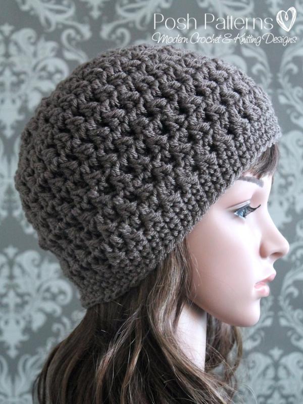 cable hat crochet pattern