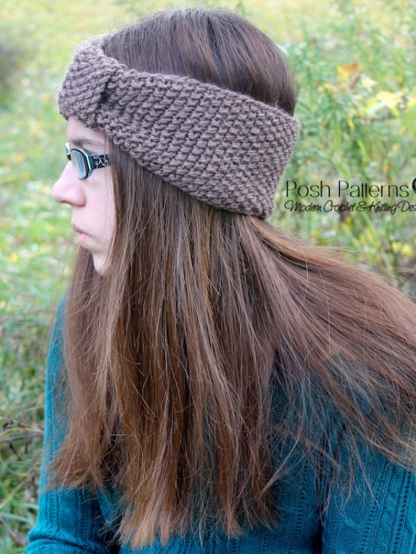 Headband Ear Warmer Knitting Pattern : Headband Knitting Pattern - Knit Ear Warmer
