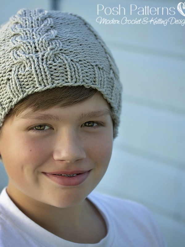 knit cable hat pattern