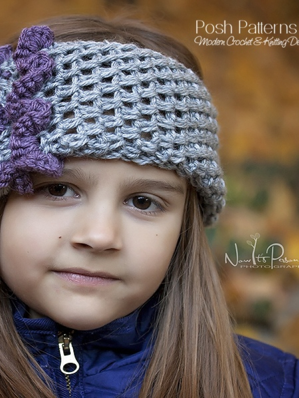 crochet pattern headband cowl