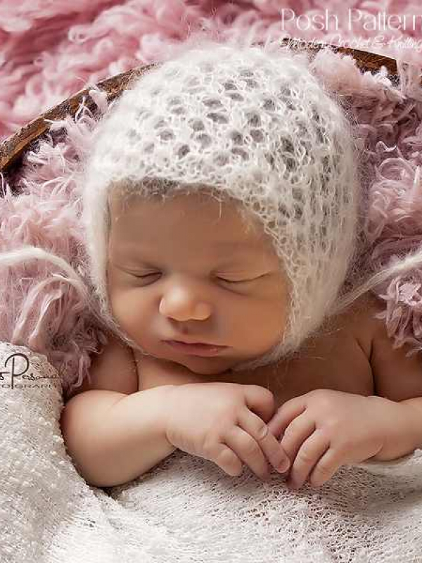 lace bonnet knitting pattern