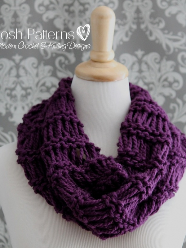 drop stitch cowl knitting pattern