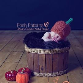 easy crochet pattern baby pumpkin hat