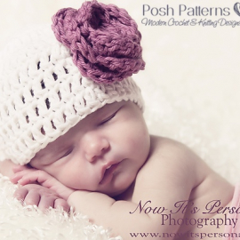 crochet hat pattern and flower
