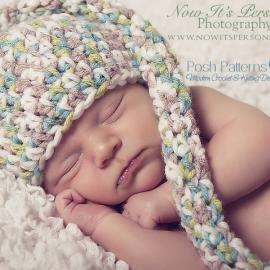 baby long tail hat crochet pattern