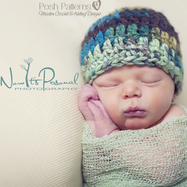 easy crochet pattern baby beanie hat
