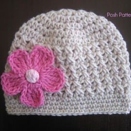 easy crochet hat pattern textured beanie