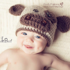 crochet hat pattern baby cow