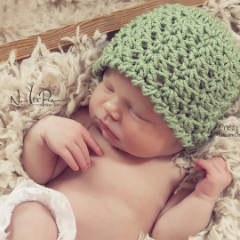 lacy hat crochet pattern
