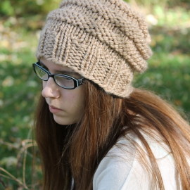 knitting pattern beehive hat