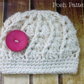 crochet hat pattern shell beanie