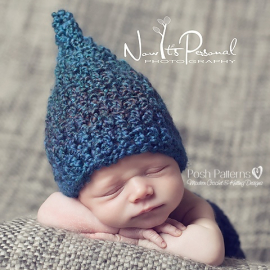 crochet pattern baby gnome hat