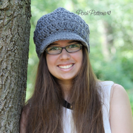 crochet hat pattern slouchy newsboy